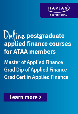 Online postgraduate applied finance courses for ATAA members